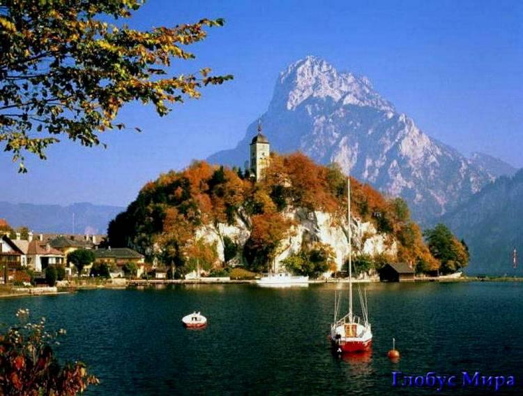 Прекрасные озера окружают город Клагенфурт