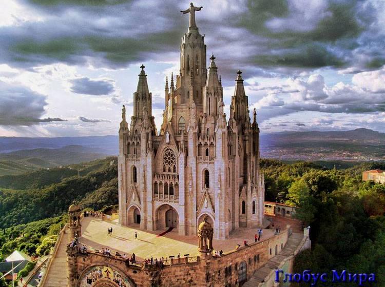 Храм Св.Сердца на горе Тибидабо в Барселоне