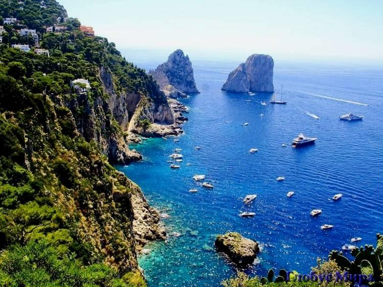 Благодатная Италия: Лазурное море и белоснежные яхты