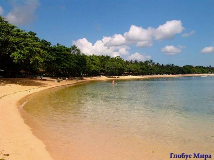 Километры чистейших пляжей на карте острова