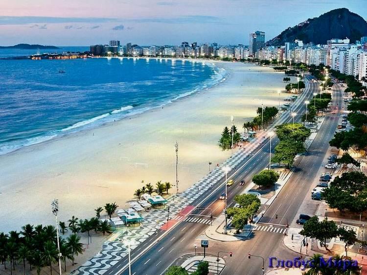 Пляж Копокабана (вид на город)