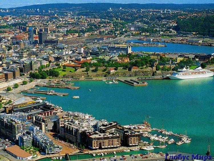Вид на Осло сверху