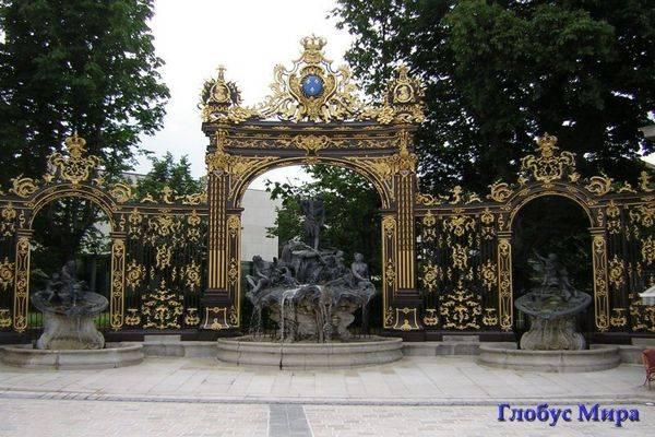 Нанси, кованые ворота на площади Станислава