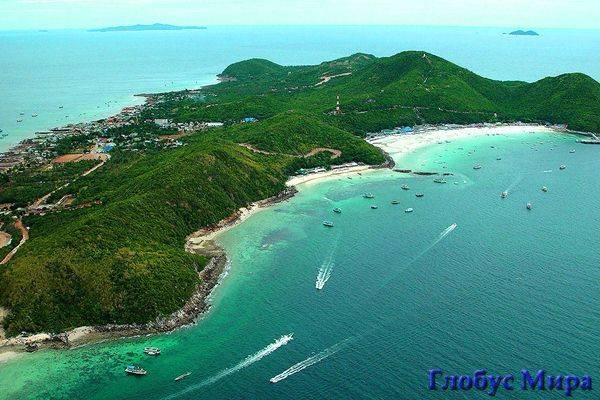 Остров Ко Лан. Карта с достопримечательностями