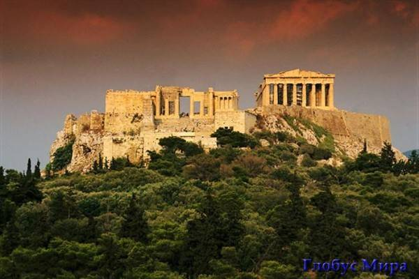 Достопримечательности. Акрополь (Греция)