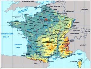 Карта с городами