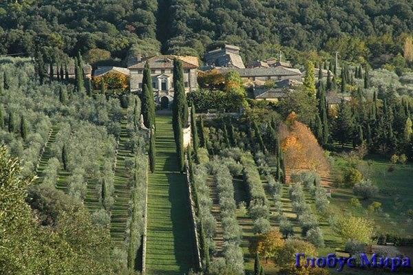 Вилла Четинале. Италия, достопримечательности