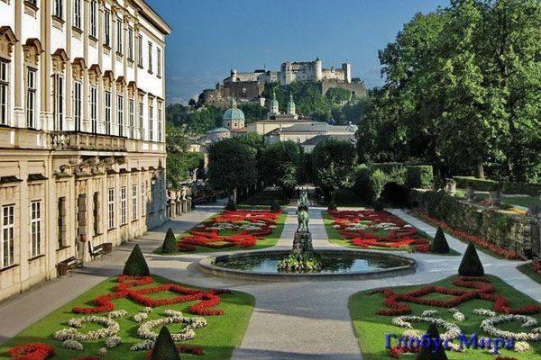 Прекрасные сады дворца Мирабель