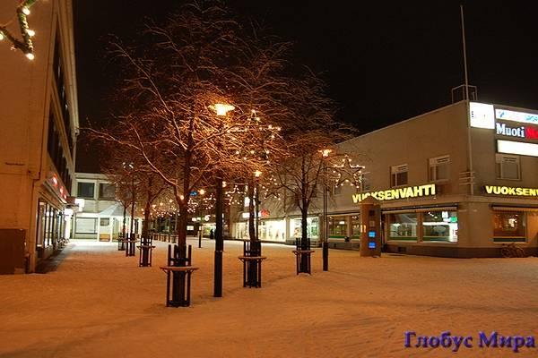 Город зимой