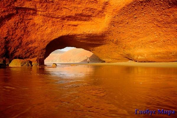 Марокканский колорит: Пляж Легзира, в 120 километрах от Агадира