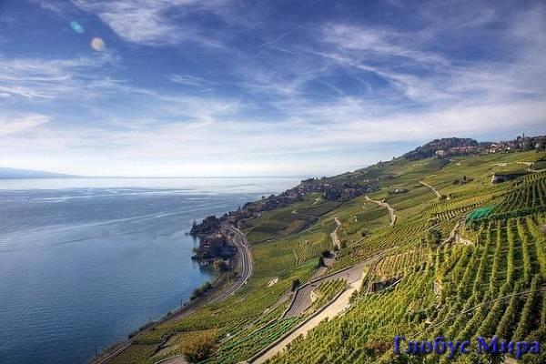 Природа Швейцарии на берегах Женевского озера