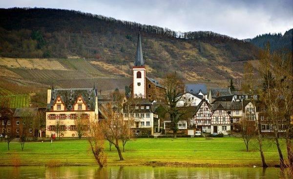Город Рейнланд-Пфальц в Германии