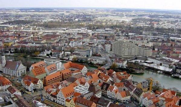 Город Аугсбург в Германии