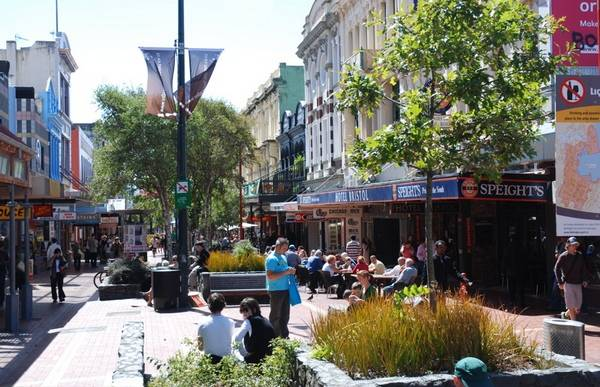 Оживленная Cuba street