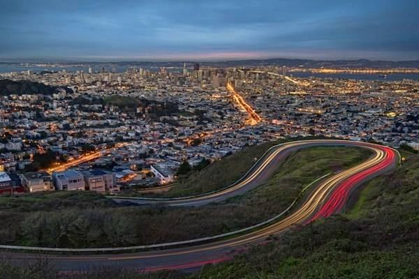 Вид с холмов на панораму города