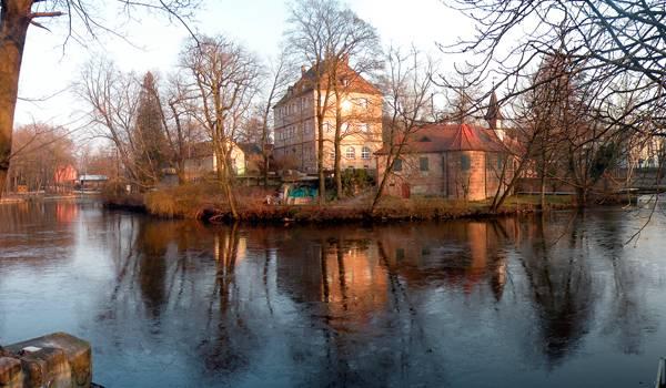 Жилые дома Нюрнберга в осеннюю пору