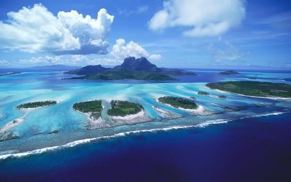 Панорама рифа с высоты