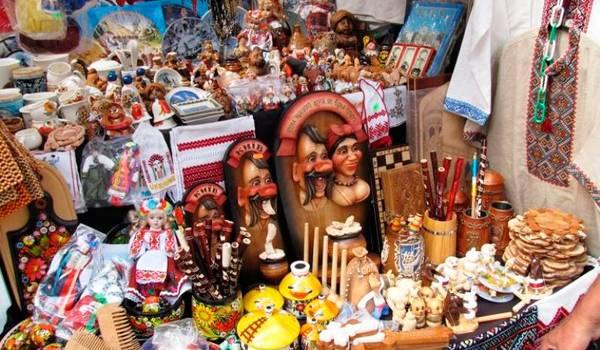 Лавка небольших и забавных киевских сувениров