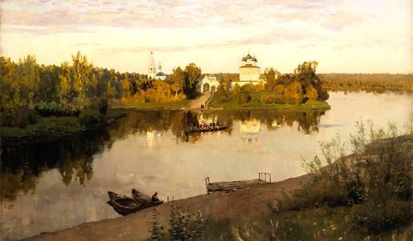 Красивый пейзаж, выполненный рукою Поленова