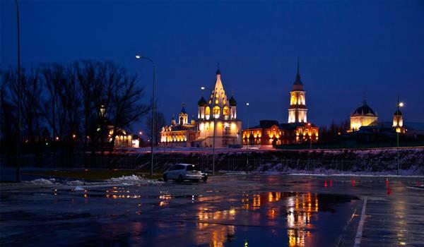 Зимней ночью Коломна покорит любого