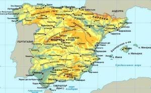 Остров Майорка на карте Испании