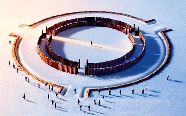 Круг на земле зимой