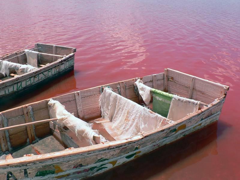 Лодки для добычи соли