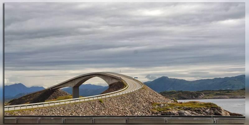 Крутые виражи надземной части моста