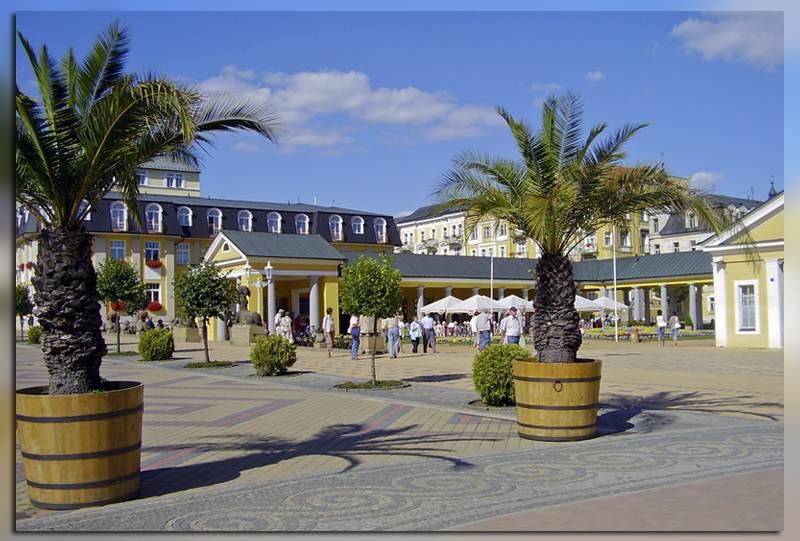 Улицы курорта в Чехии