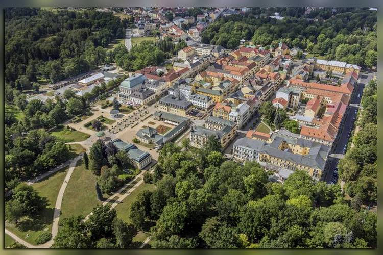 Панорама санатория в Чехии