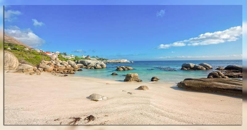 Пляж Boulders Beach в Южной Африке
