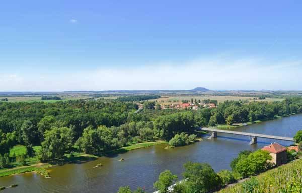Река Влтава в Мельнике, Чехия