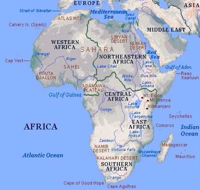 Водные артерии Африки