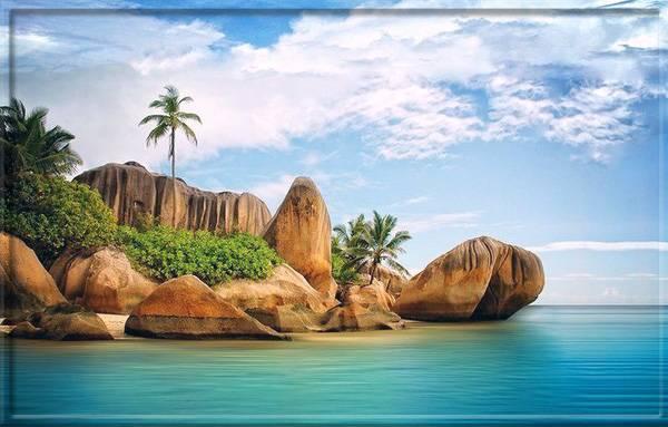 Прибрежные камни на Сейшелах