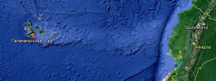 Галапагосские острова на карте