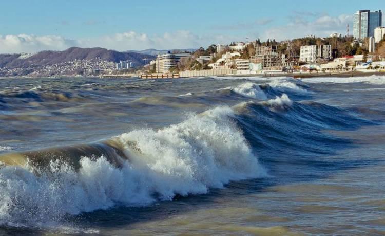 Побережье Сочи на Черном море