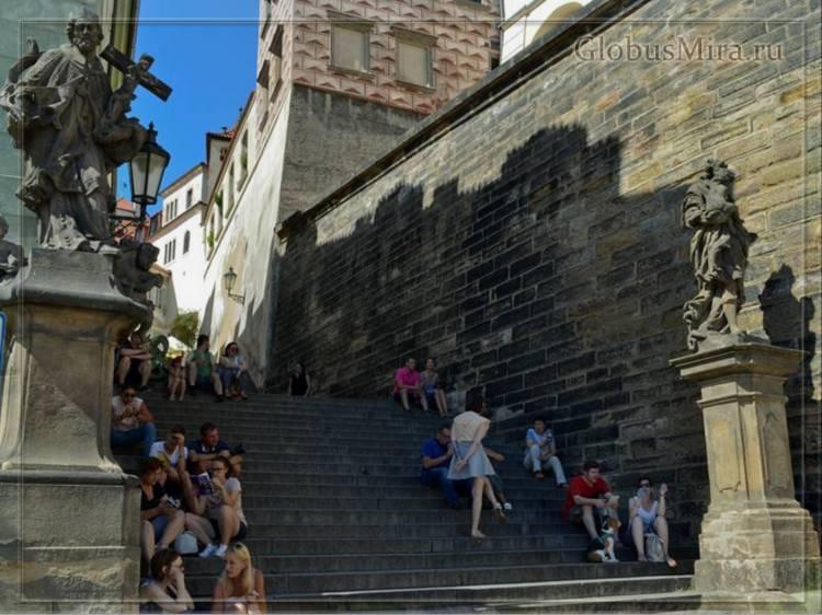 Туристы в Пражском Граде