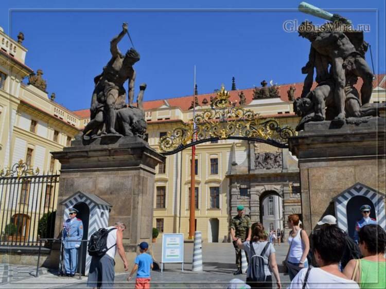 Центральные ворота Пражского Града