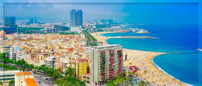 Побережье Средиземного моря в Барселоне
