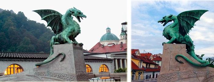 Мост драконов в Любляне