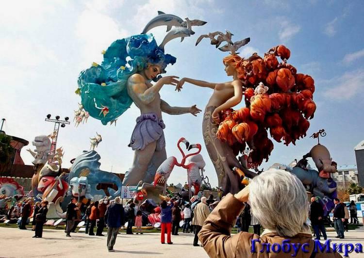 Праздник Огня на улицах Валенсии
