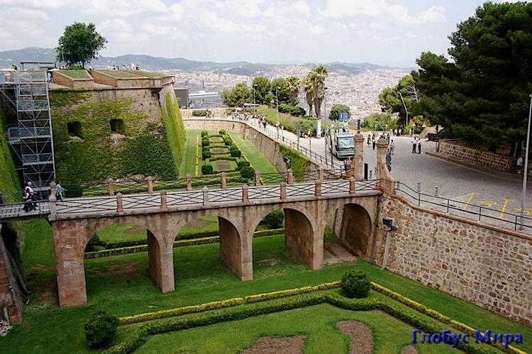 Крепость Монжуик в Барселоне
