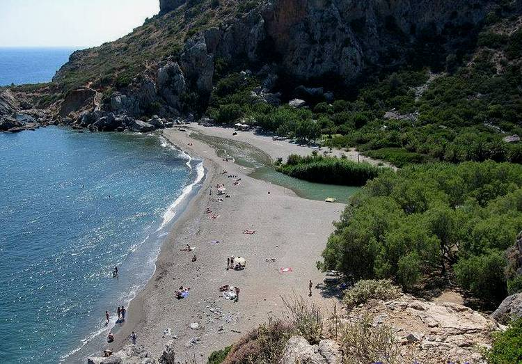 Пальмовый пляж Превели на Крите