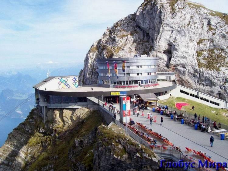 Достопримечательности: на горе Пилатус (Швейцария)
