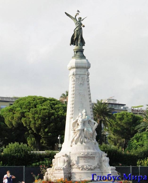 Город Ницца: Статуя Нике и Афине Палладе