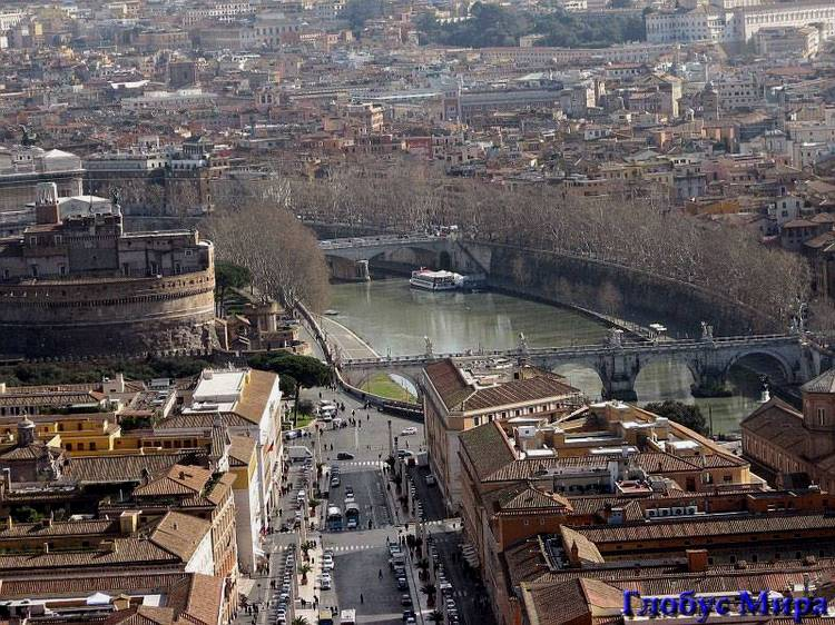 Вид на Тибр (Италия)