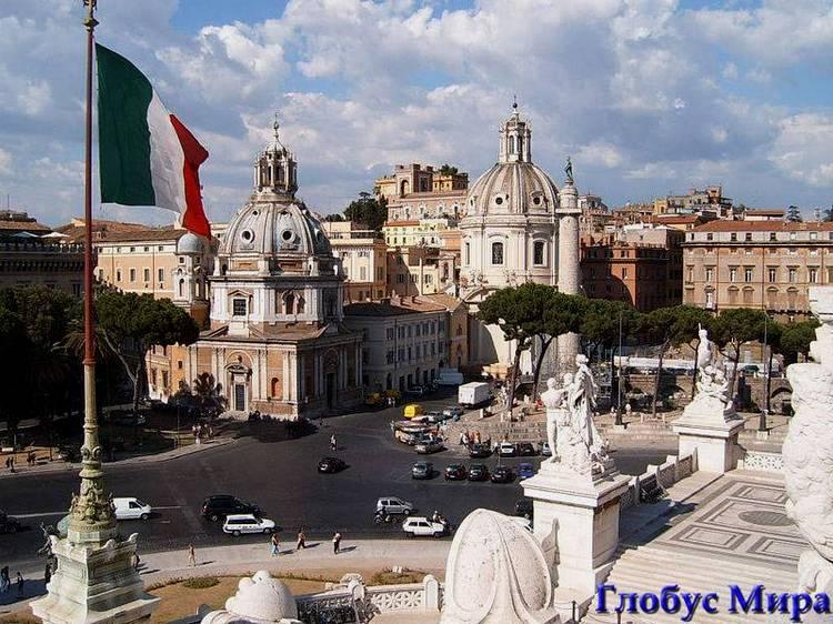 Достопримечательности Рима на фото: Площадь Венеции