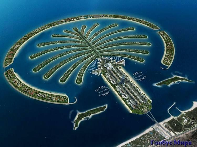 Искусственный остров в форме пальмы