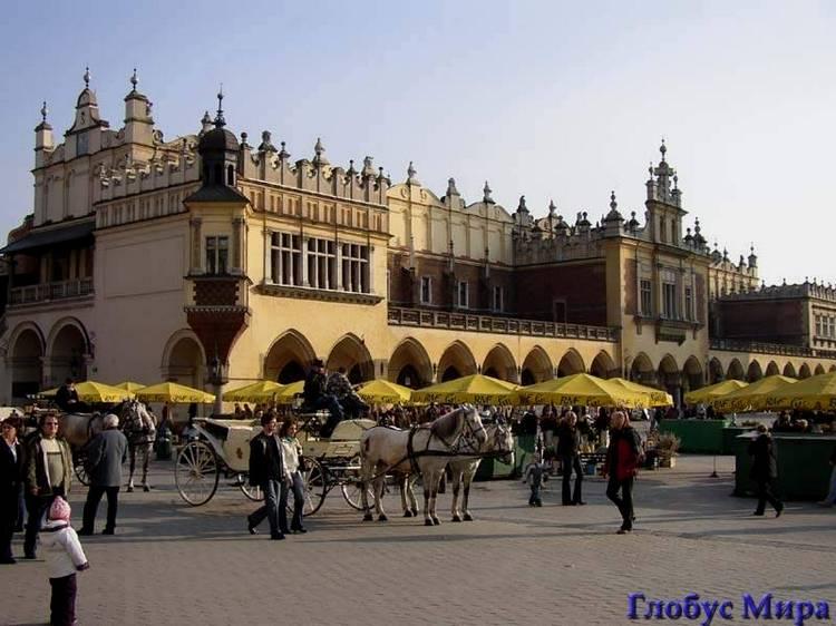Город Краков. Рыночная площадь