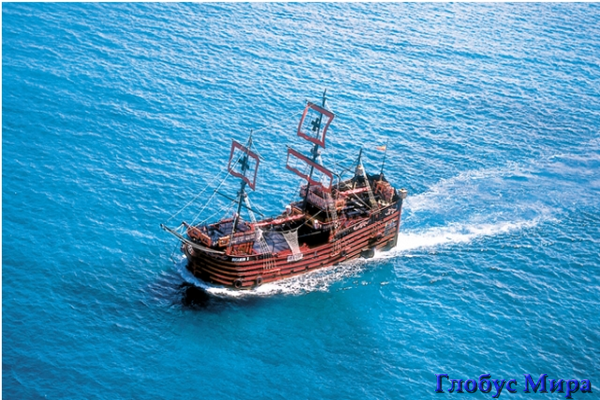 Прогулка на пиратской шхуне (Мексика)